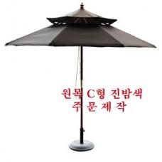 원목2단c형 2700m/m진밤색주문제작(받침대별매)