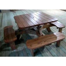 원목 사각 일체형 테이블/D1210 x W1210 mm/미송